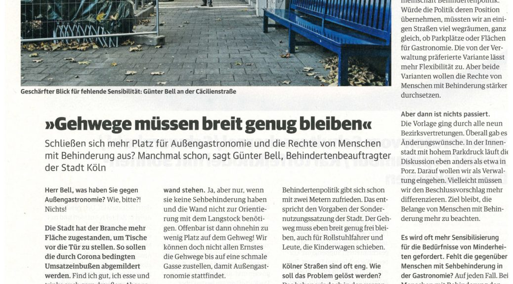 Interview in der Stadt Revue